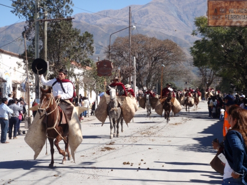 Gauchos parading in Campo Quijano, in the North West of Argentina
