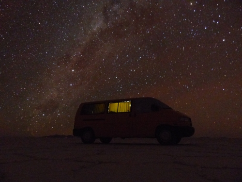 Amazing starry nights in the desert and the mountains