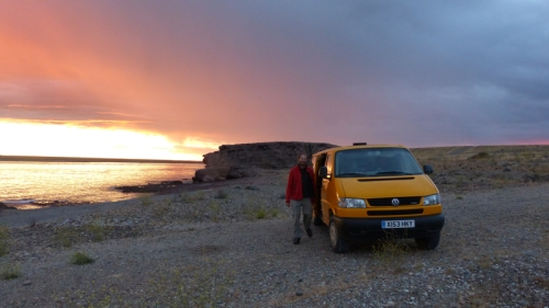 One of many fantastic long sunsets in Patagonia