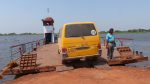 A ferry instead of a bridge on the southern Transpantaneira