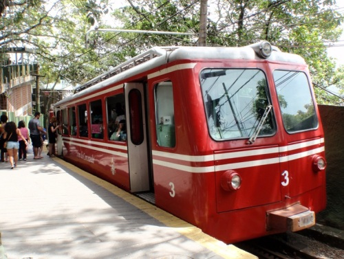 The small but powerful cog train up Corcovado hill