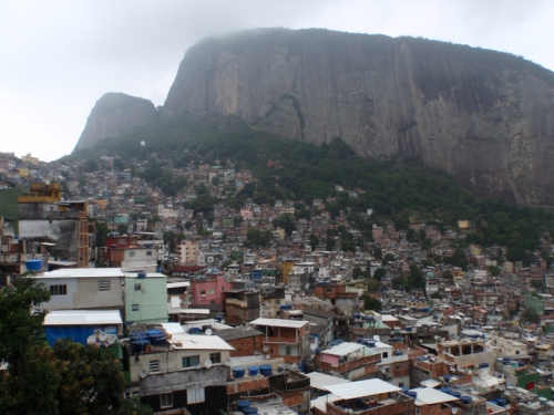 The Favelas climb up the sides of, sometimes, unfeasibly steep hillsides