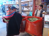 Stocking up on coca leaves