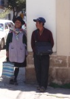 Finding a shady spot on a street corner in Sucre