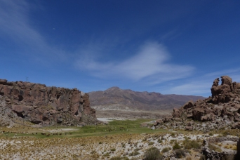 The beautiful setting of Estancia Churata, where we found a little sports climbing