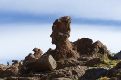 Head shaped rock formation