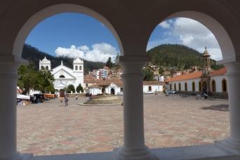 The plaza at La Recoleta