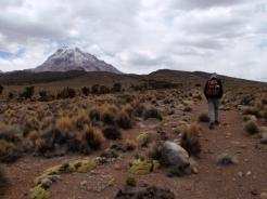 Talking a walk towards the volcano