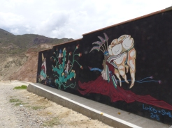 A mural near the campsite depicting the Devil's Molar