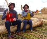 The reeds are actually edible
