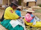 The Uros maintain their traditonal artesanal craft skills