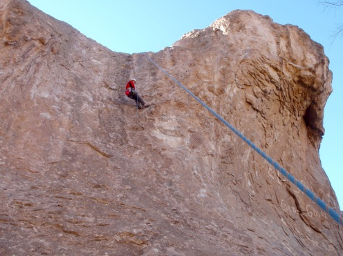 Steep climbing on the wave at El Salto
