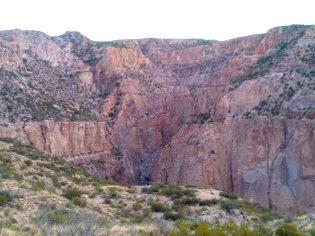The Cajón de la Frazada - there are a few routes and plenty of scope for more