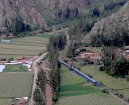 The trains to Machu PIcchu passed through the valley below