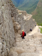 Yet more steep steps at Machu Picchu
