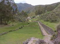 The start of the trail back down into the Sacred Valley