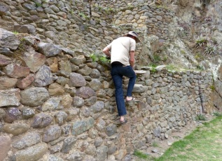 Even terracing has steps! (At Ollantaytambo)