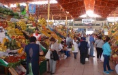 The colourful and lively city market