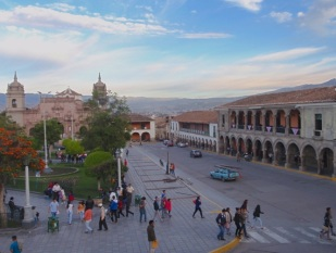 Ayacucho's elegant central square