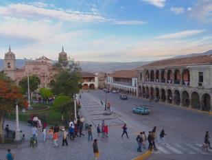 Ayacucho's elegant central square