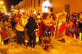 We returned in the evening just in time to see a rather drunk Wonder Woman and his group finally arrive in the square