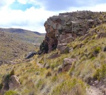 The caves are hidden up the side of the valley