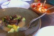 The tuna ceviche (with avocado) was delicious