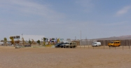 Our camping spot in Paracas...
