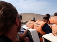 Passing the Candelabra on the boat out to Islas Ballestas