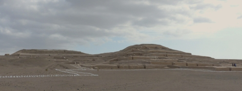 The restored religoius site of Cahuachi...