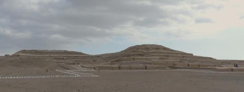 The restored religoius site of Cahuachi...