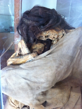 You can still see the tattoos on the mummy!