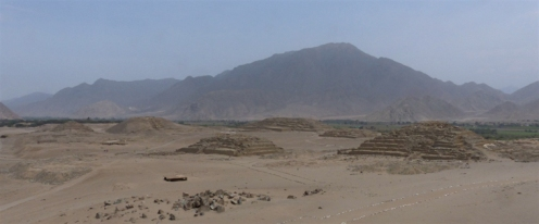 The extensive site of Caral - they believe there were 30 population centres in the area