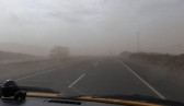 The winds blow up the occasional sandstorm
