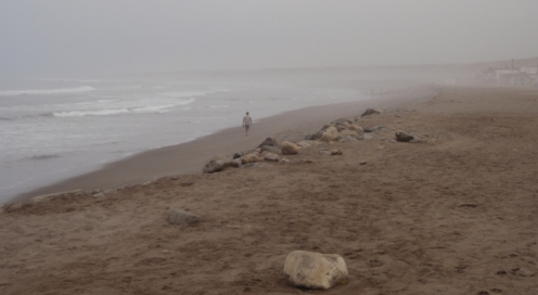 A thick coastal haze is a frequent feature of much of the Peruvian coast