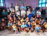 The team with the village children - if we look a little hot and sweaty, it's because we were!