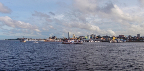 Coming into Manaus