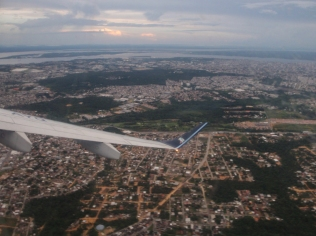 Flying out of Manaus - a surprisingly large city to be found in the middle of the rainforest so far from anywhere