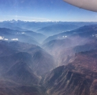 Flying back to the UK out over the huge, dramatic landscapes of Peru