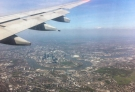 Beautiful clear day coming in to land over London