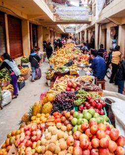 Wonderful fruit market in Chachapoyas